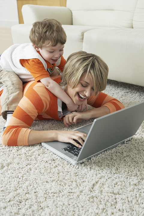 Find online publications on this page: Mom and son on computer